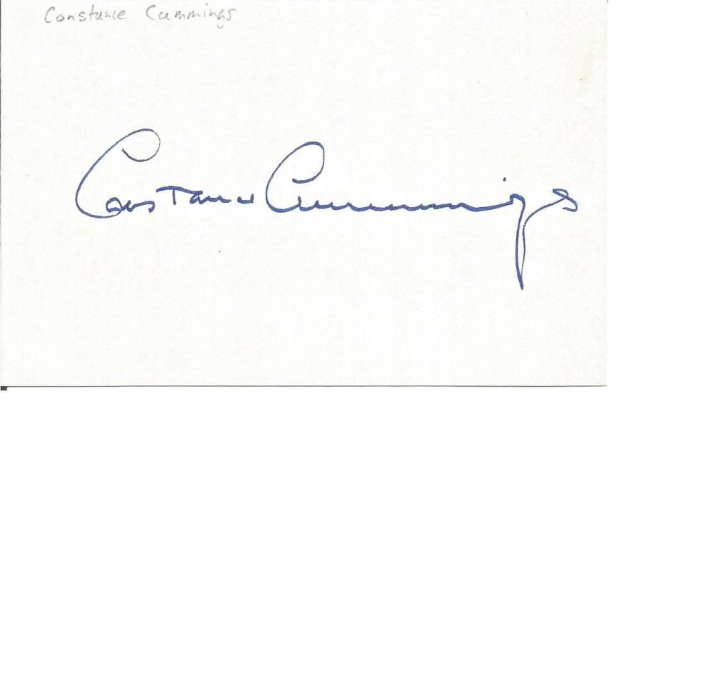 Constance Cummings signed album page. Comes with biography information. Good Condition. All signed