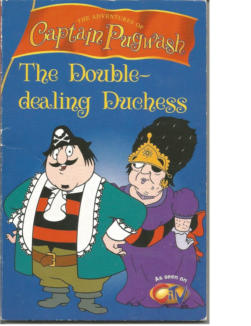 John Ryan Captain Pugwash drawing and autograph to inside page of the book The Double dealing