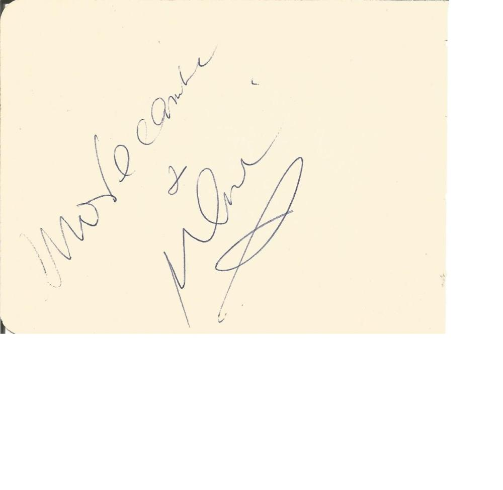 Eric Sykes signed Morecambe and Wise signed autograph album page, Sykes has signed for both, with