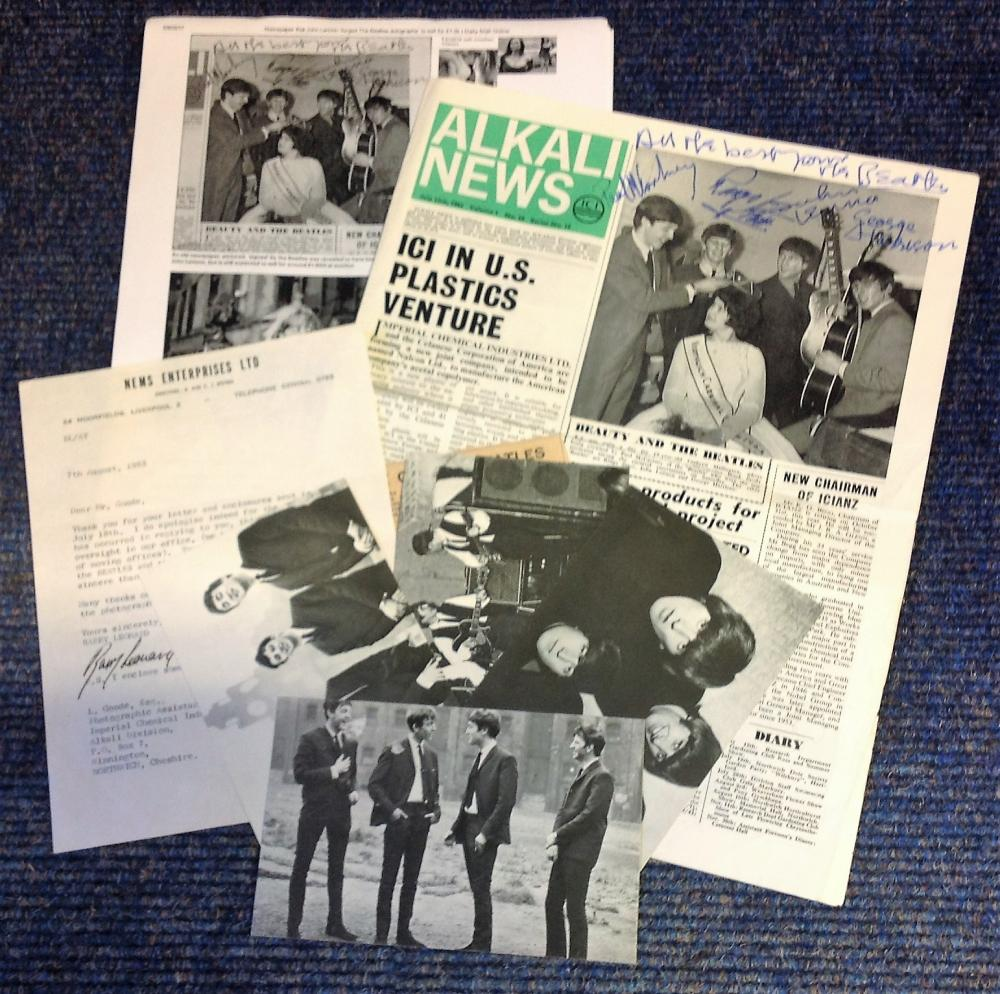 Beatles John Lennon signed 1963 Alkali News newspaper, an in-house magazine for chemical giant