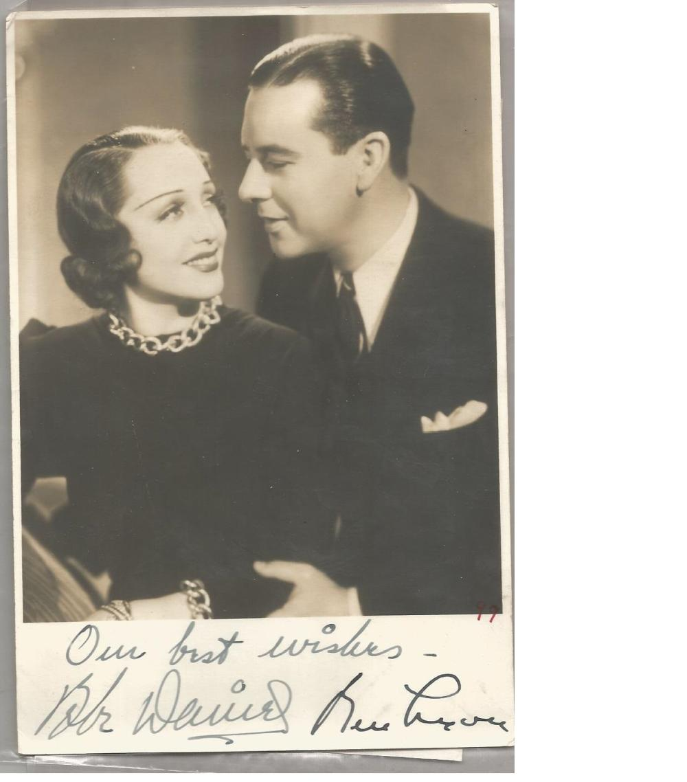 Bebe Daniels and Ben Lyon signed 7x5 vintage photo. Good Condition. All signed pieces come with a