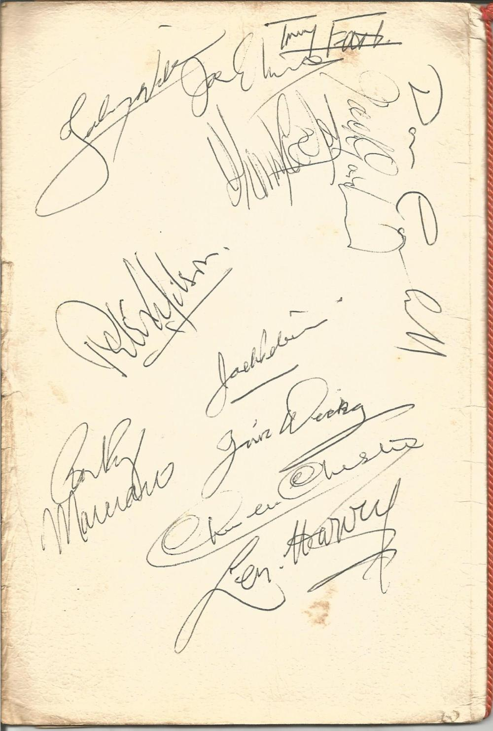 Rocky Marciano signed Sporting Club dinner menu. Also signed by various other heavy weight champions