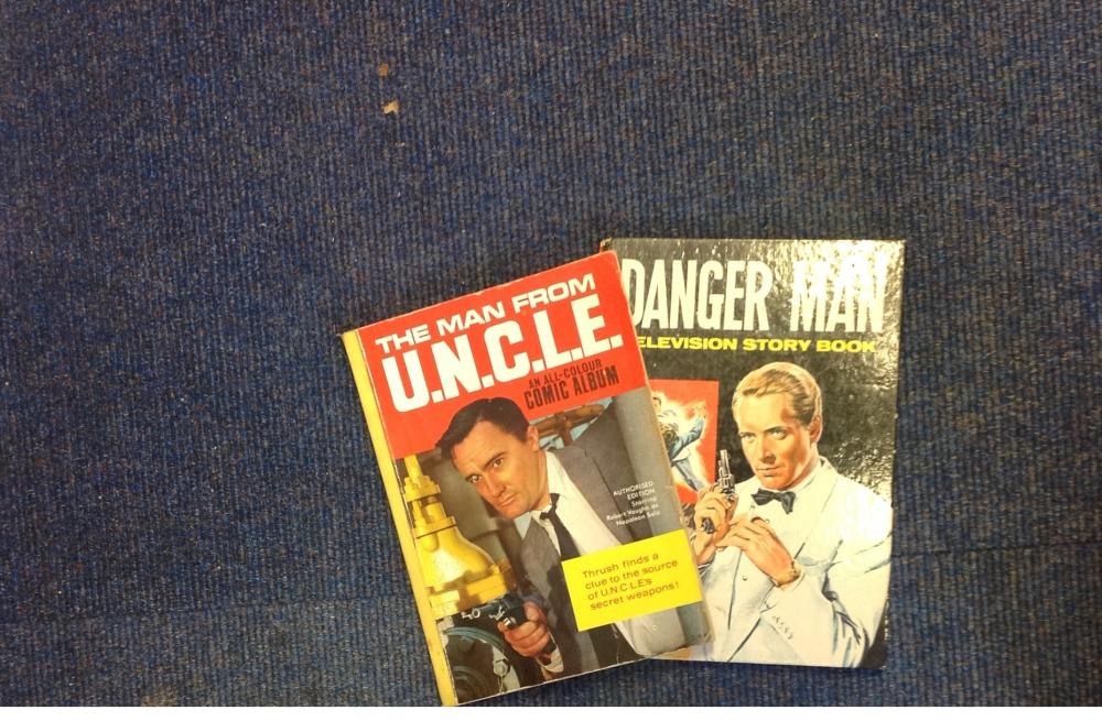 Collection of 2 1970's comic/annual books. Includes The Man from UNCLE and Danger Man -television
