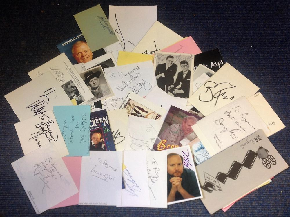TV/Film/Theatre signed collection. 80+ items. Assortment of flyers, album pages and photos.