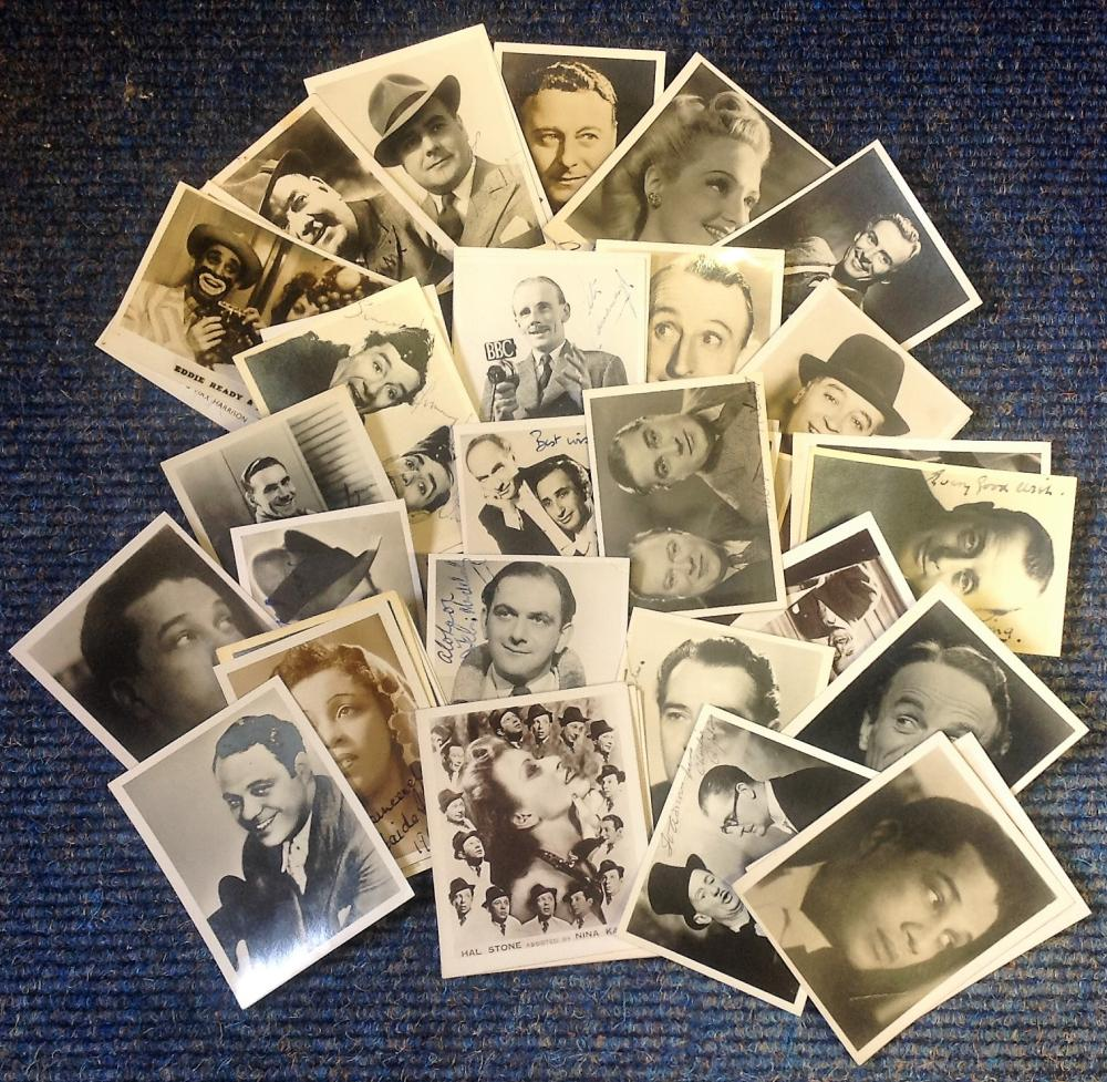 Vintage signed photo collection. 40 3x2 photos. Some of names included are George Bolton, Eddie