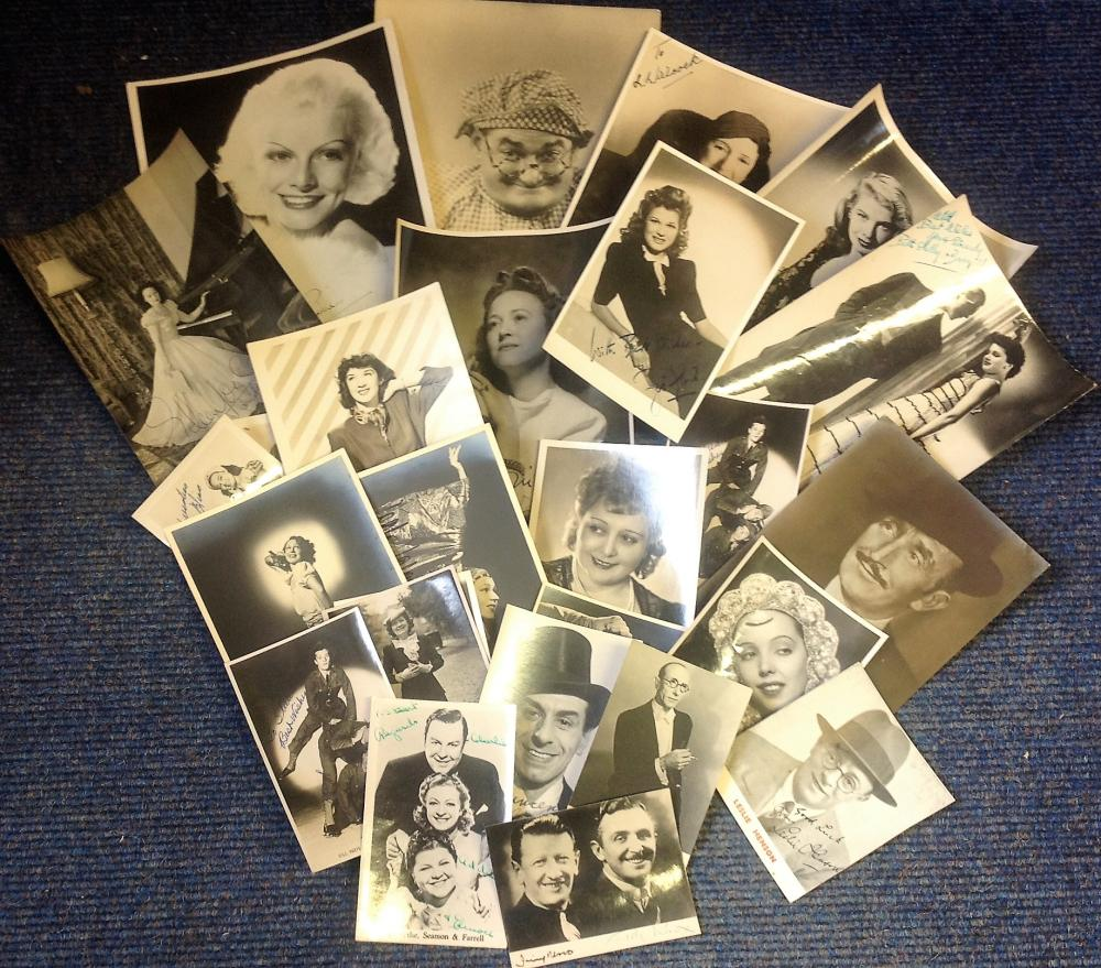 Vintage signed photo collection. 20+ plus assorted sizes mainly sepia and b/w. Some of names
