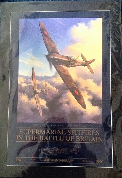 World war 2 battle of Britain aviation print. Nicolas Trudgian Supermarine Spitfire