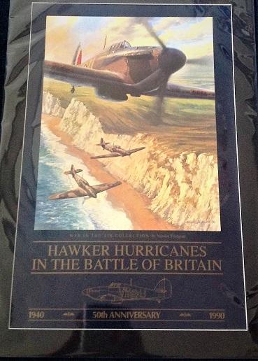 World war 2 battle of Britain aviation print. Nicolas Trudgian Hawker Hurricanes