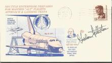 Gordon Fullerton Space shuttle astronaut signed 1977 Space Shuttle Approach test FDC. Edwards AF