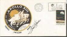 Fred Haise Apollo 12 astronaut signed 1970 Apollo 13 US FDC. Kennedy Space Center CDS postmark on