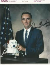 Duane Graveline Apollo 4th Group signed 10 x 8 colour business suit photo. American physician and