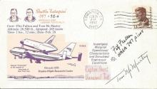 Fitz Fulton and Tom McMurtry NASA test pilots signed 1977, shuttle Enterprise Approach FDC. Good