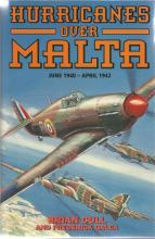 Hurricanes Over Malta signed hard back book by Brian Cull. Signed on title page by Brian Cull, Cyril
