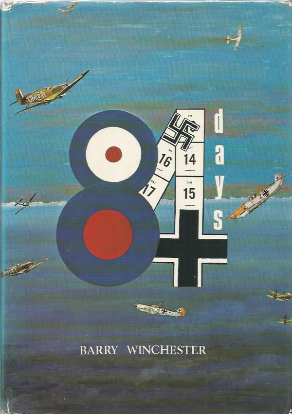 Multi signed 84 Days hardback book by Barry Winchester. Signed by 16 on inside page including
