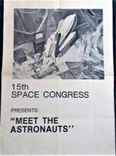 Astronauts John Young, Deke Slayton and Fred Haise signed to 15th Space Conference 17 x 11