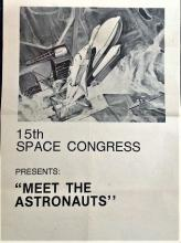 Astronauts Deke Slayton and Fred Haise signed to 15th Space Conference 17 x 11 promotional poster.