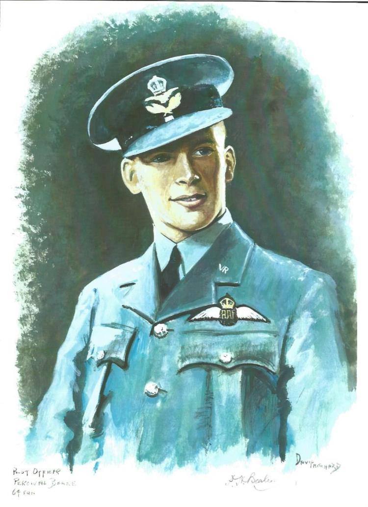 Plt Off Percival Beake WW2 RAF Battle of Britain Pilot signed colour print 12 x 8 inch signed in
