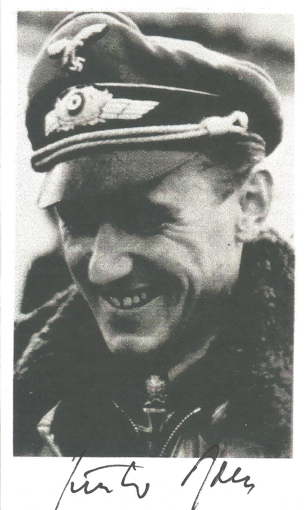 Black and white Print Signed General Gunther Rall Knights 275 Victories Black and white Print Size