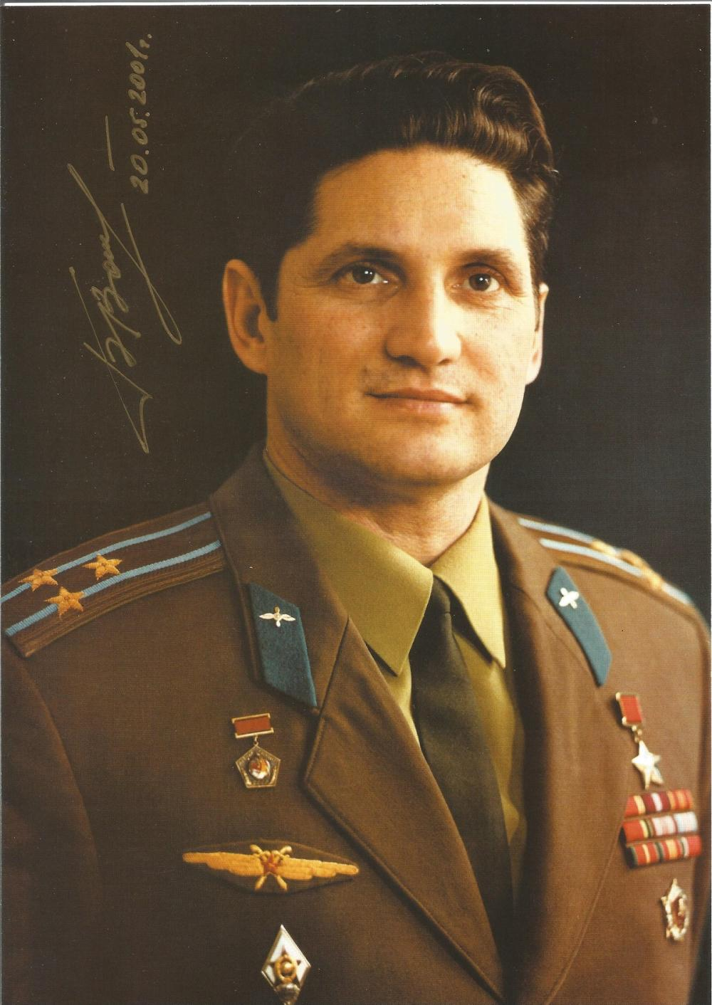 Russian Astronaut Boris Volynov hand signed 12x8 colour printed photo. Personally hand signed in