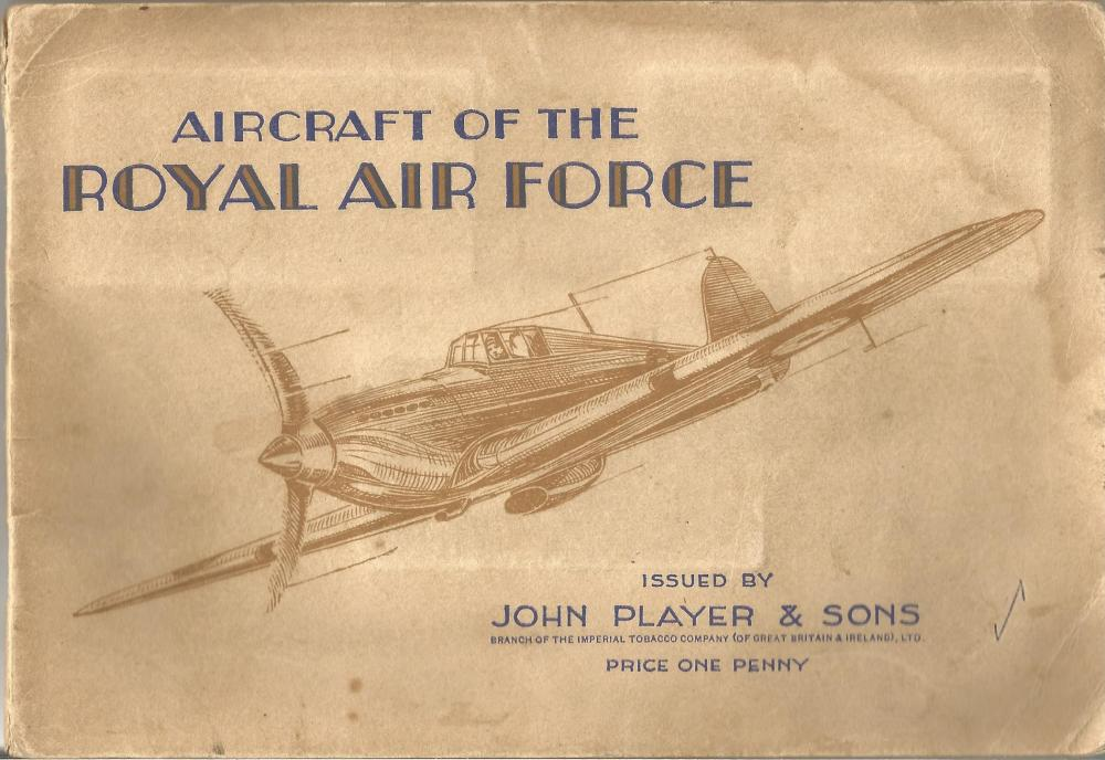 WW2 RAF Cigarette Cards Complete set 50 cards. Aircraft of the Royal Air Force issued by John Player
