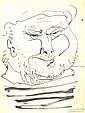 Pablo Picasso autographed lithograph. 28cm x 36cm