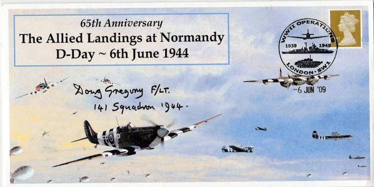 Lot 480 Specially Designed Cover For The 65th Anniversary Allied Landings At Normandy