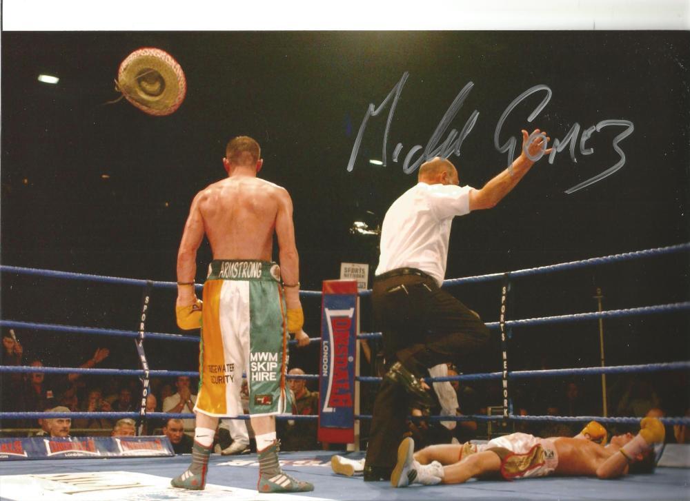 Boxing Autograph Michael Gomez Signed 12x8 inch Colour Photograph JM366