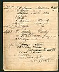 1899 Cricketers signed sheet. A nice vintage item,