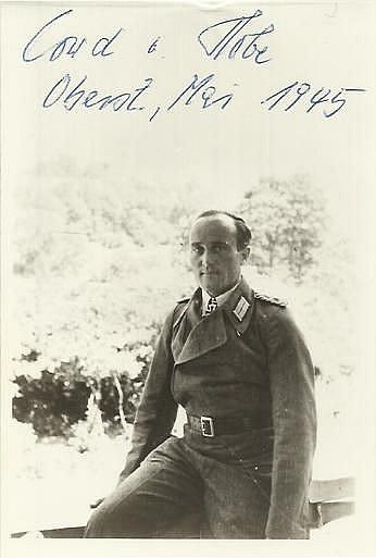 General Cord Dietrich von Hobe signed 6 x 4 vintage photo. 1909 - 1991 last