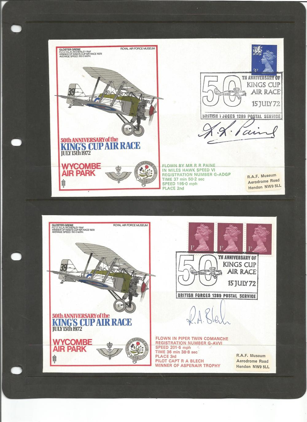 History Kings Cup Air Race collection 40 fantastic signed fl