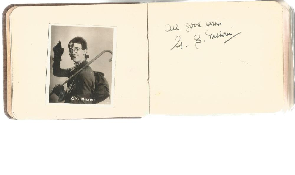 Autograph Album containing more than twenty signatures of British actors, radio stars and old time
