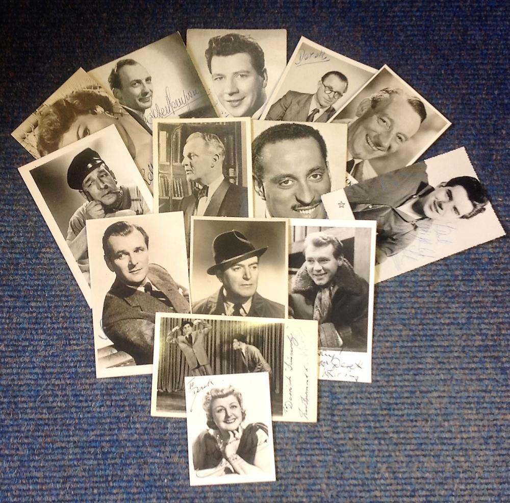 Vintage TV/Film collection. 14 photos, mainly 6x4 b/w. Some of names included are Tessie O'Shea,