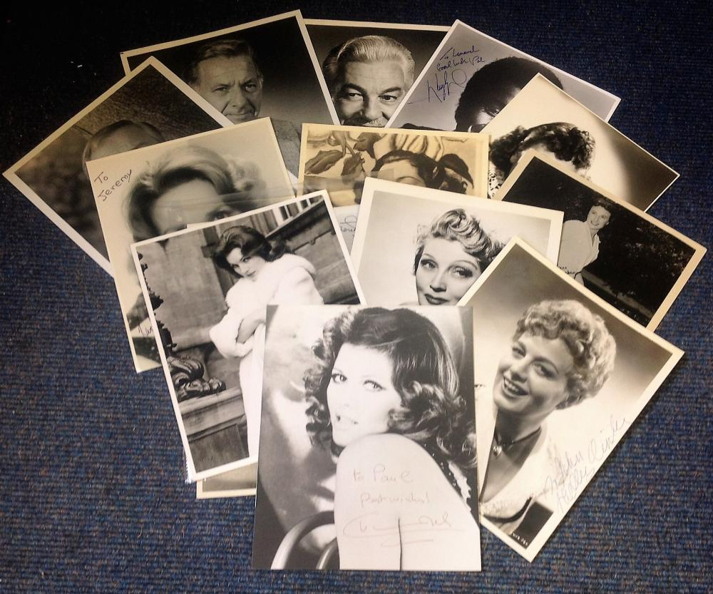 TV/Film signed 10x8 b/w photo collection. 14 photos. Some of names included are Claudia Cardinale,
