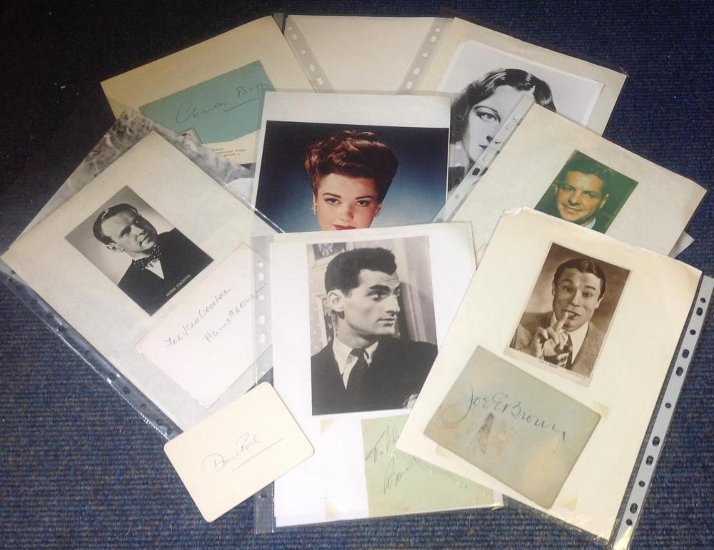 Signature piece collection. 10 items. Some of names included are Charles Boyer, Eleanor Boardman,