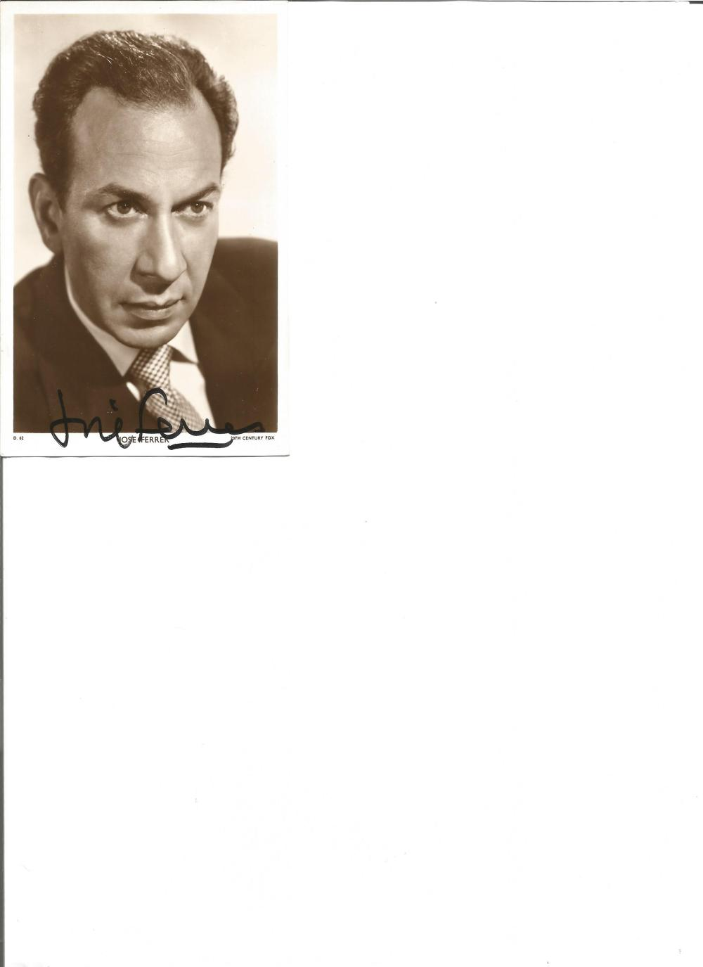 Jose Ferrer signed 6x4 vintage photo. January 8, 1912 – January 26, 1992, was a Puerto Rican actor