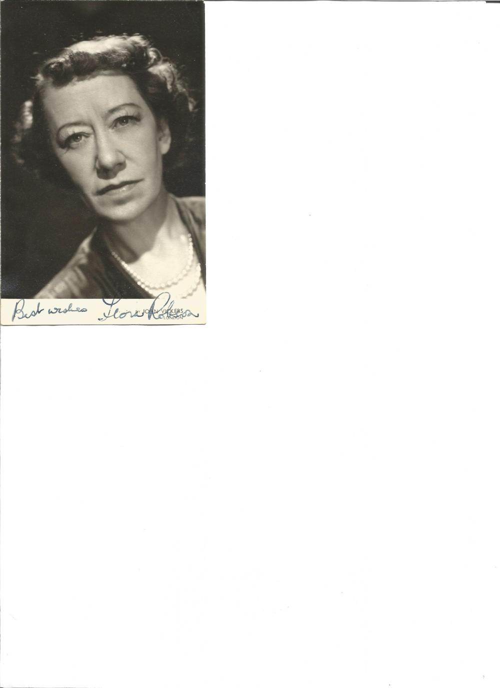 Flora Robson signed 6x3 b/w photo. 28 March 1902 – 7 July 1984 was an English actress and star of