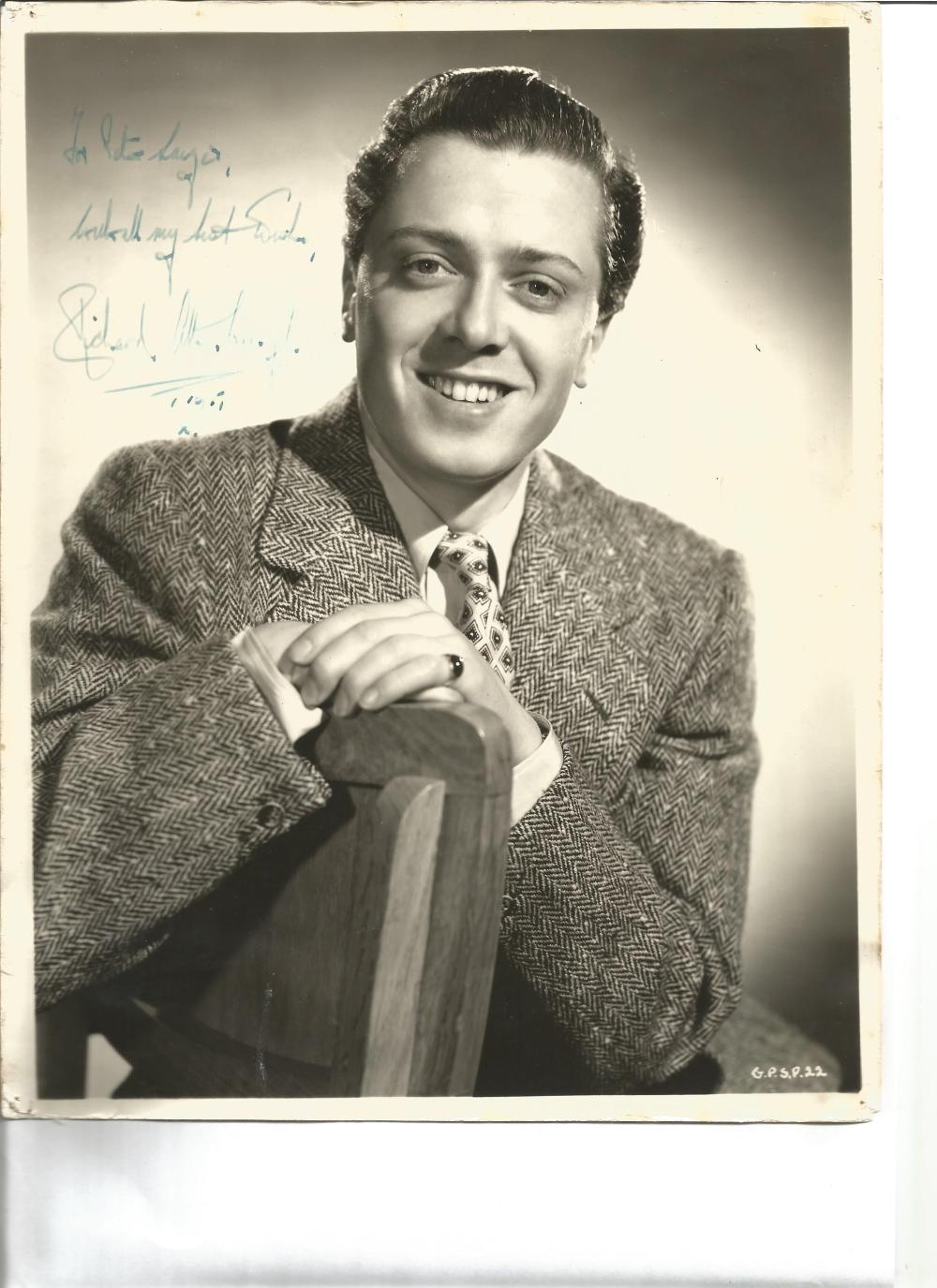 Richard Attenborough signed 10x8 vintage photo. 29 August 1923 – 24 August 2014 was an English