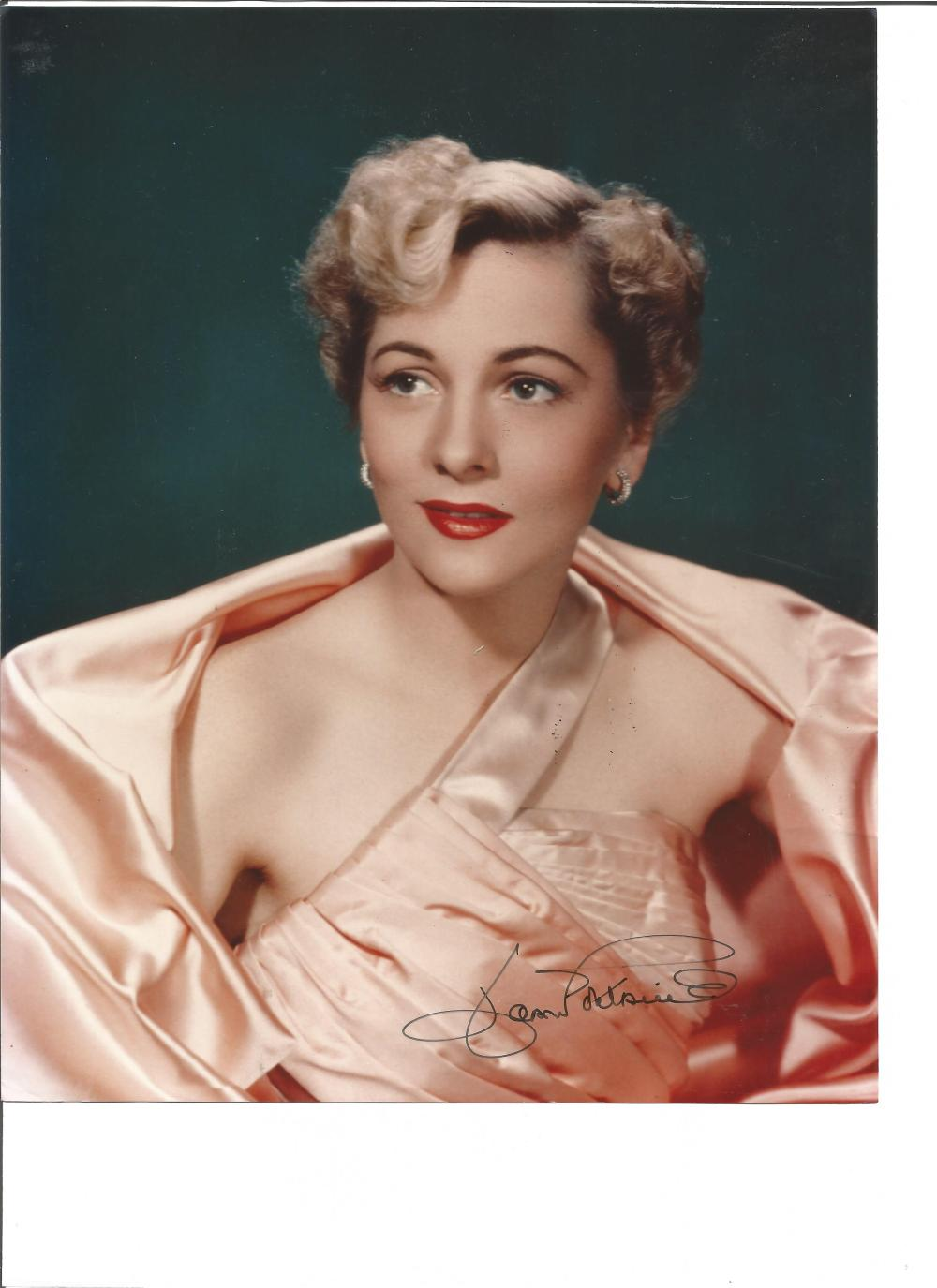 Joan Fontaine signed 10x8 colour photo. October 22, 1917 – December 15, 2013, was an American