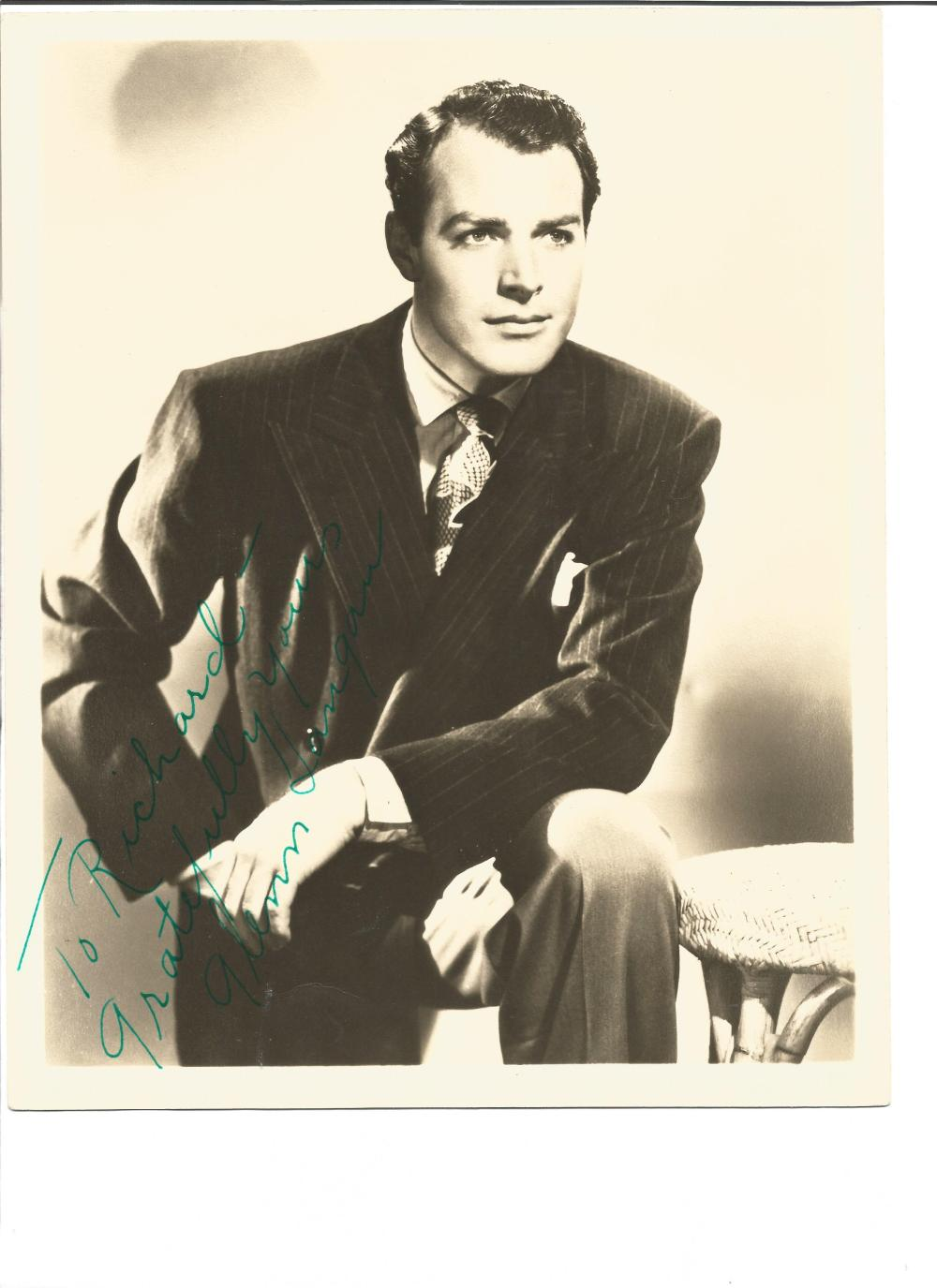 Glen Langan signed 10x8 sepia photo. July 8, 1917 – January 26, 1991 was an American character actor