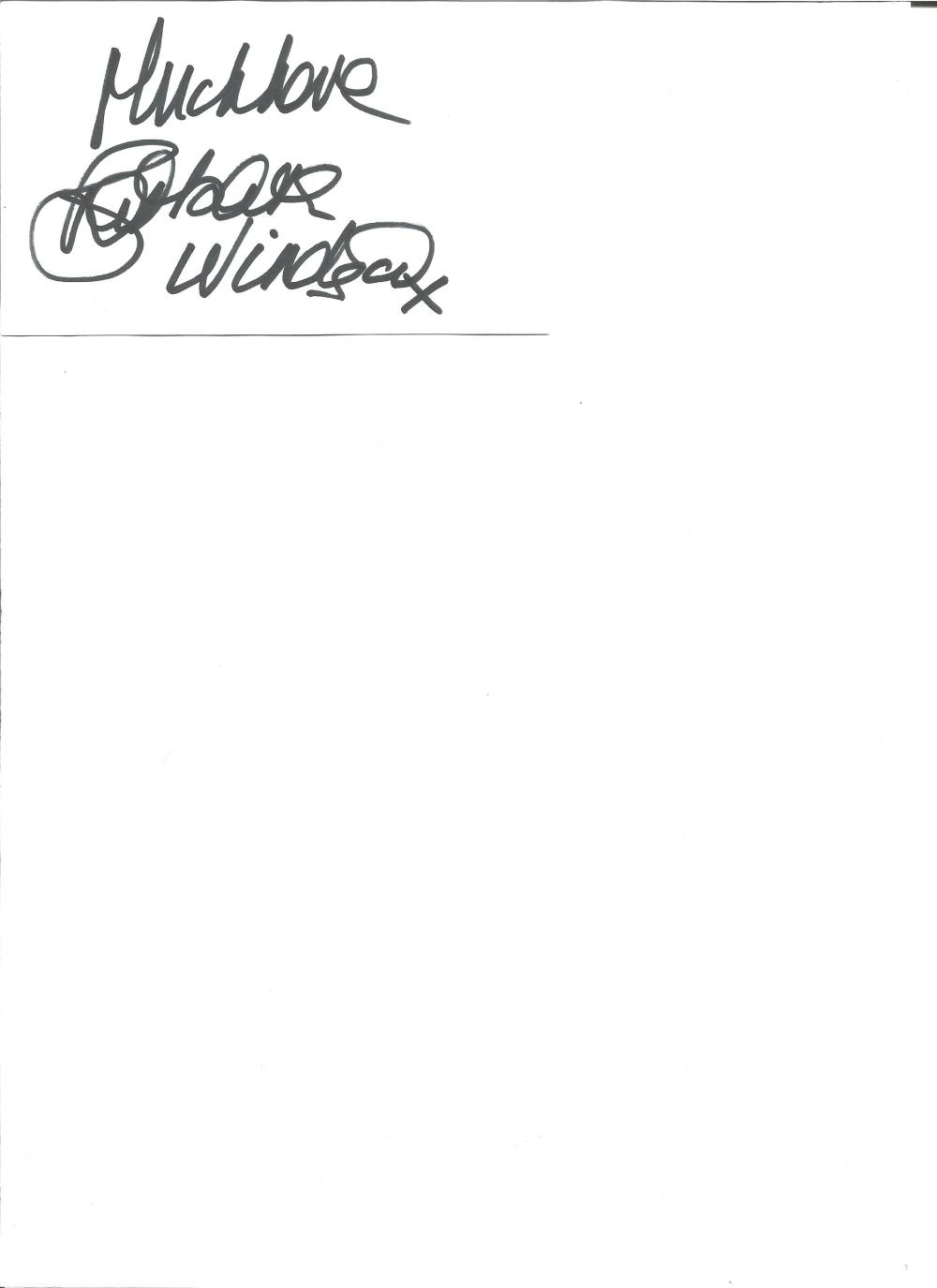 Barbara Windsor signed white card. Good Condition. All signed pieces come with a Certificate of