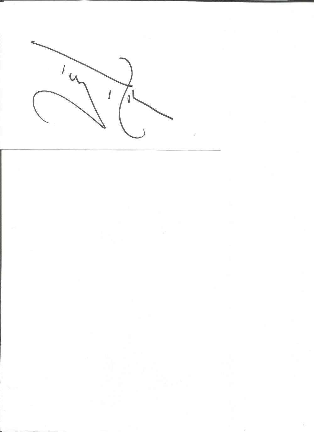 Tony Robinson signed 6x4 white card. English comedian, actor and author. Good Condition. All