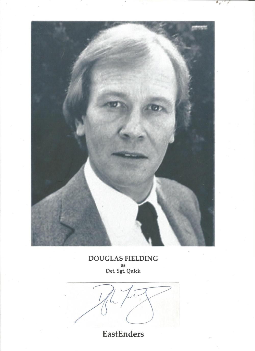 Douglas Fielding, actor on stage, film and television. Best known for his roles in the TV series '