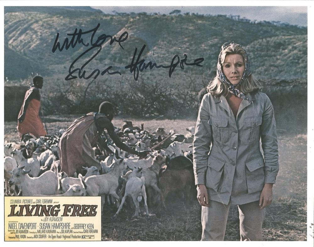 Susan Hampshire signed 10x8 colour photo from Living Free. Good Condition. All signed pieces come