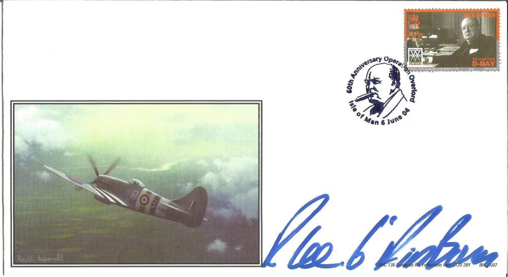 D-Day Pegasus Bridge veteran R Lee, 6th Airborne signed 2004 BHC Hawker Typhoon cover. Good