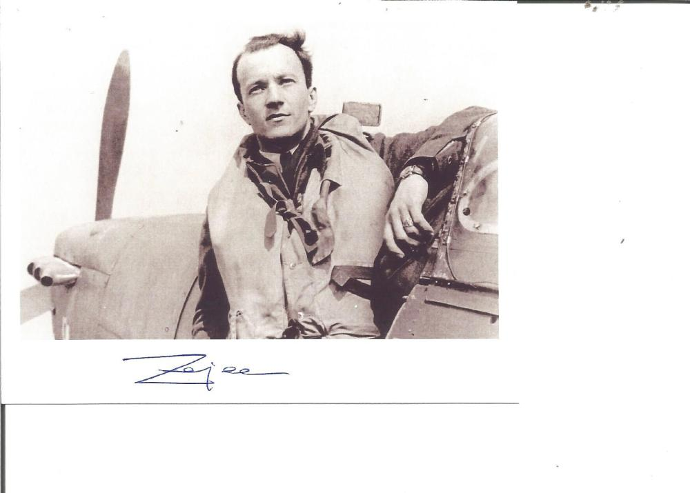 Wladyslaw Zajac WW2 fighter ace 315 Sqn signed 7 x 5 portrait photo from Ted Sergison Battle of