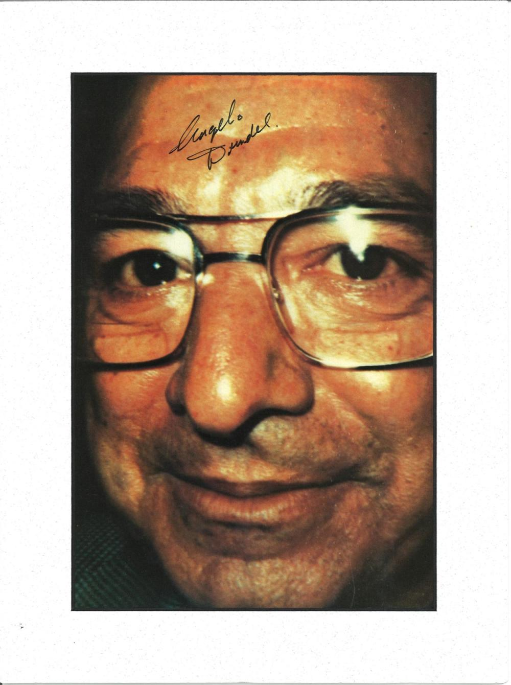 Angelo Dundee signed colour photo. Mounted to approx size 14x11. Good Condition. All signed pieces