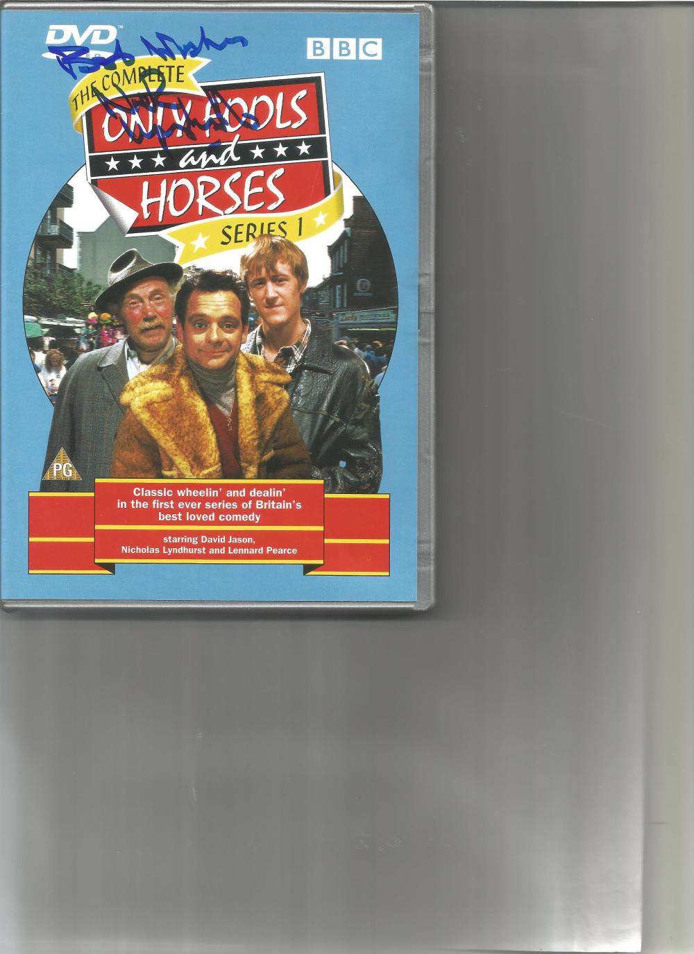 Nicholas Lyndhurst signed DVD sleeve for Only Fools and Horses series 1. DVD included. Good
