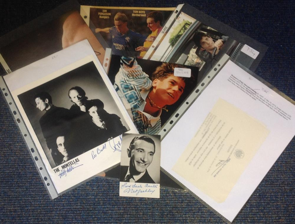 Assorted signed collection. 7 items mainly 10x8 photos. Some of names included are Ian Ferguson