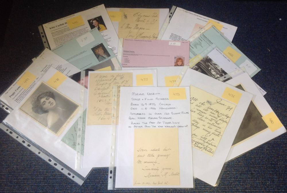 Assorted TV/Film signed collection. Assortment of letters, photos, album pages. Contains 15 items.