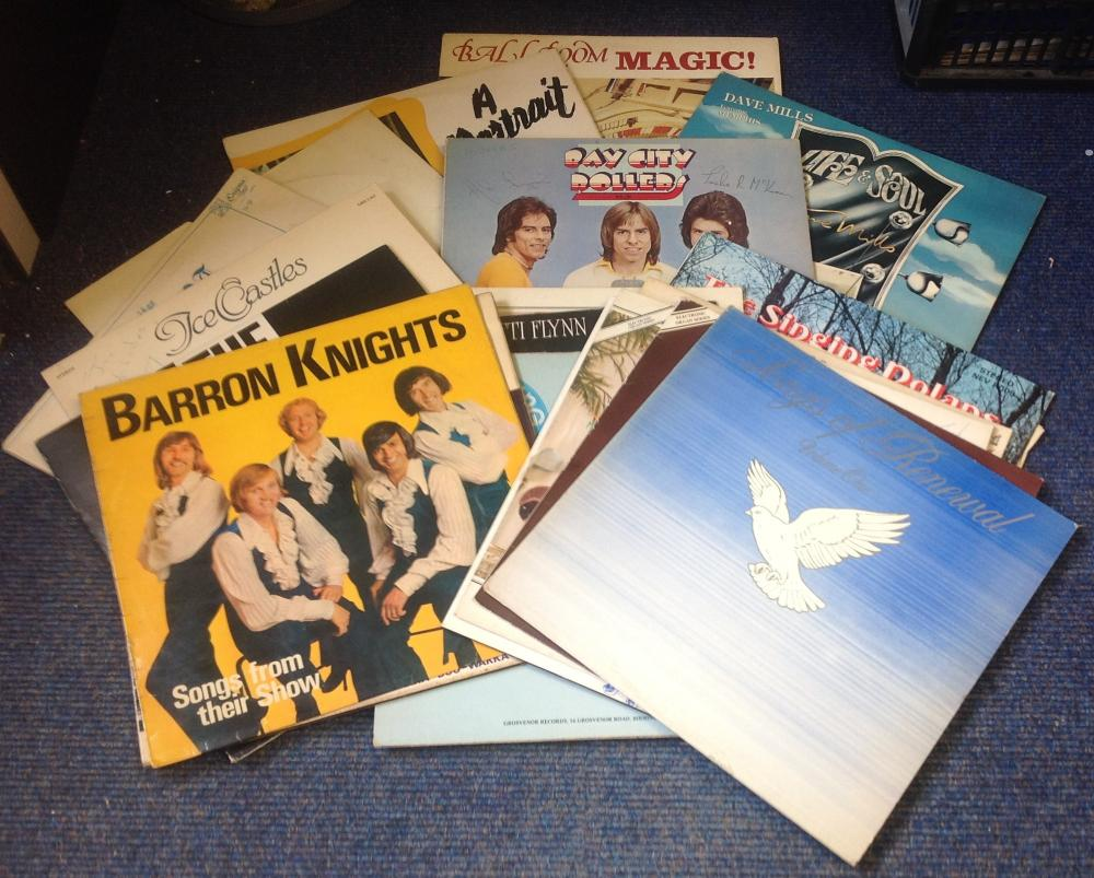 Signed 33rpm record sleeve collection. 19 record Some of signatures included are Tim Flint3, John